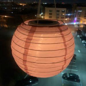 LED solar-powered pendant lamp, pink